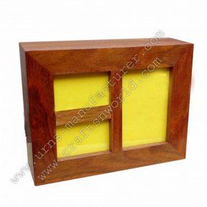 Three photo frame wood Urns for human