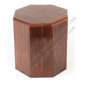 Plain Wood Cremation Urn