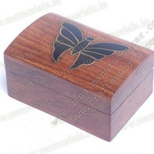 Timber Keepsake Black And Golden Butterfly On Top
