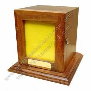 shisham wood photo frame urn box with lid opening