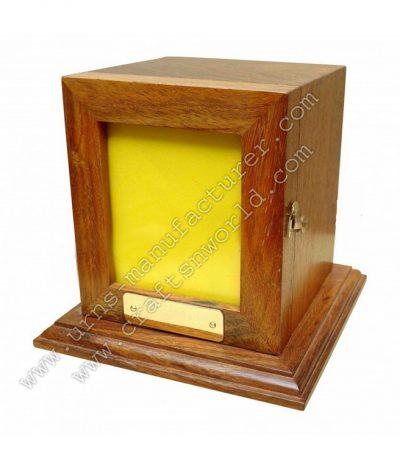 shisham wood photo frame urn box with lid opening