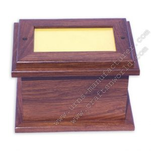 Shisham Wood Top Photo Frame Pet Urn