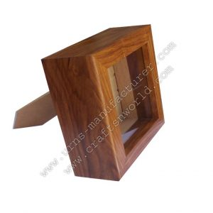 Shisham Wood Photo Frame Style Pet Urns
