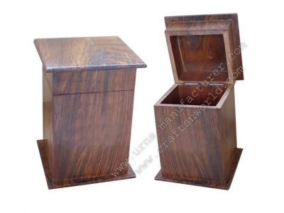 Wooden Tower Style Pet Urns With Lid Opening