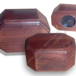 Shisham Wood Plain Cremation Urns