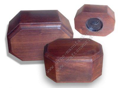 Shisham Wood Plain Cremation Urns