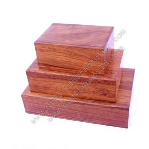 Wooden Plain Timber Cremation Pet Urns