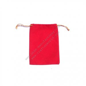 Nice Velvet Pouch Drawstring Red Colour