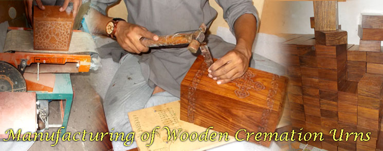 Manufacturing of wooden cremation urns