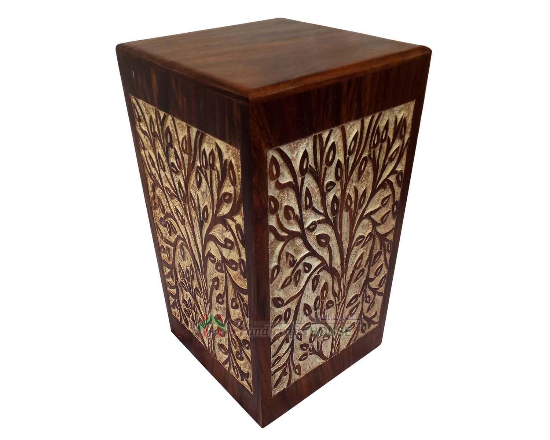Wooden Cremation Urns Wood Funeral Box Beautiful Timber Keepsake