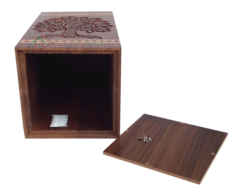Wooden Casket Urn For Human Ashes Wood Keepsake Box