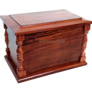 Wood Human Cremation Urns For Ashes - Wooden Funeral Urn, Memorials Casket Box