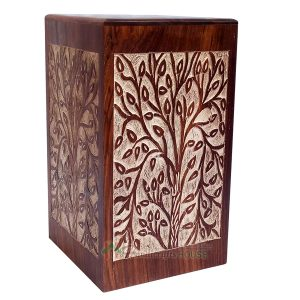 Wooden Cremation Urns for Human Ashes, Wood Funeral Box