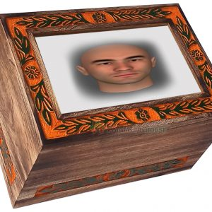 wood urns for adult. wooden photo urn
