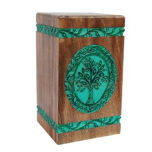 Wood Burial Adult Urn, Wooden Urns For Human Ashes, Decorative Keepsake, Memorials Box