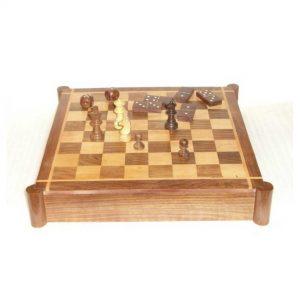 Chess - Wooden Decor Desktop Game - Hardwood Board Games for Spending Time