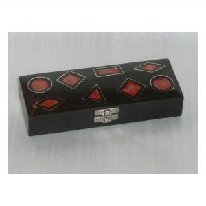 Black and Red Wooden jewelry Box - Fashion Accessories Storage Boxes, Earring, Finger Rings, Necklaces Case