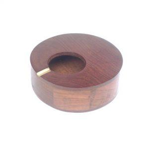 Wooden Ash Tray - Natural Solid Round Wood Cigarette Ashtray, Smoke Ash Holder