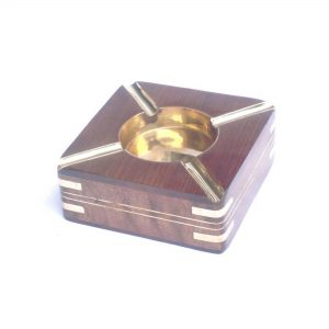 Ashtray for Cigars Cigarette- Wooden Square Ash Tray