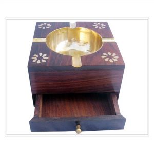 Cigar Ashes Trays, Metal Wooden Ash Trays for Cigarette