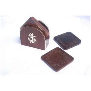 Wooden Hand Carving Coaster - Handmade Wood Coasters for Juice Glass, Tea Cup