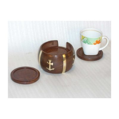 Coasters for Drinks Set of 6 with Holder - Protect Furniture from Stains, Coffee