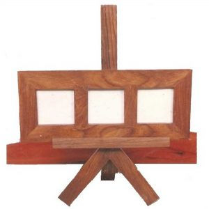 Photo Frame with Stand - Wooden Decorative Item, Wood Table Top and Decor Accessories