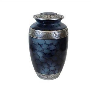 Affordable Metal Cremation Urn - Handcrafted Solid Urns for Human Ashes, Classic Colored Funeral Keepsake with 200 Cubic/inches