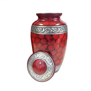 Metal Ashes Urn for Human – Adult Cremation Urns – Funeral Casket, Decorative Keepsake