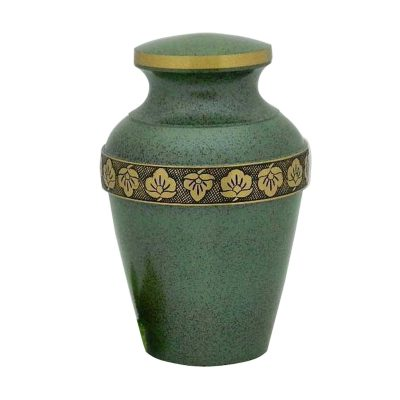 Beautiful Green Adult Cremation Urn for Human Ashes, Decorative Memorial Large Keepsake – Pet Ash Urns with 200 Cubic Inches, Burial Casket
