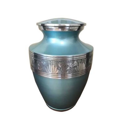 Arctic Cremation Urn for Ashes, Adults Keepsake up to 200lbs, Decorative Funeral Urns made from Aluminum, Metal Casket for Human or Pet Ash