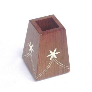 Office Supplies Desktop Storage Box - Solid Wood Pen Holder, Wooden Pencil Stand
